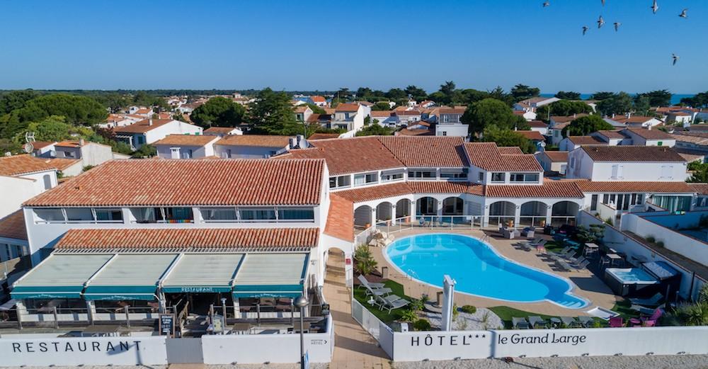 Hotel du Grand Large ile de Ré vue aérienne